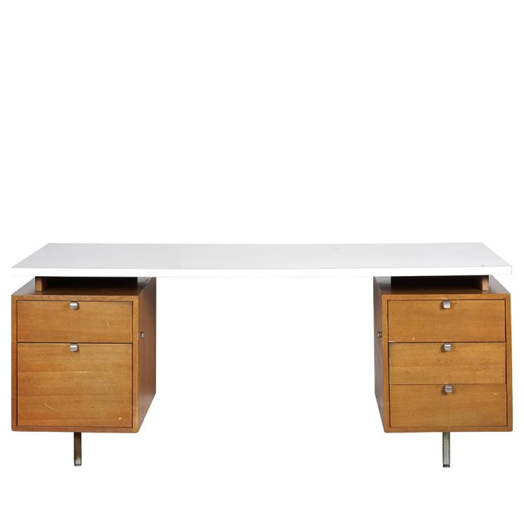 George Nelson walnut desk