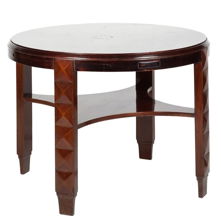 Mahogany entry table