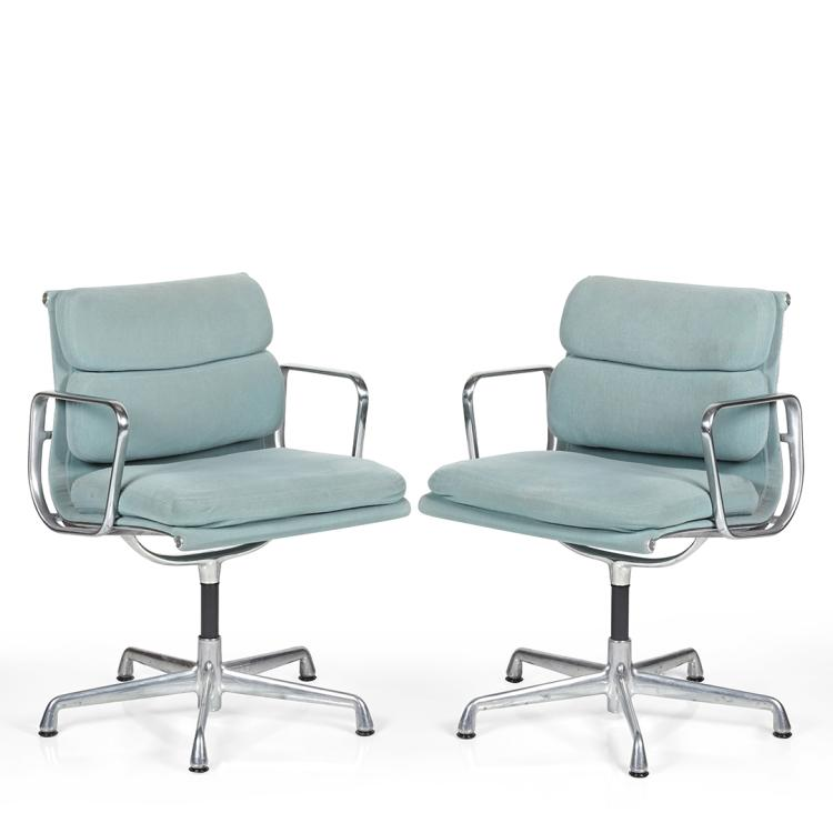 Charles Eames Aluminum Group desk chairs (2)