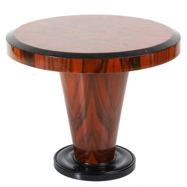 French Art Deco macassar ebony table