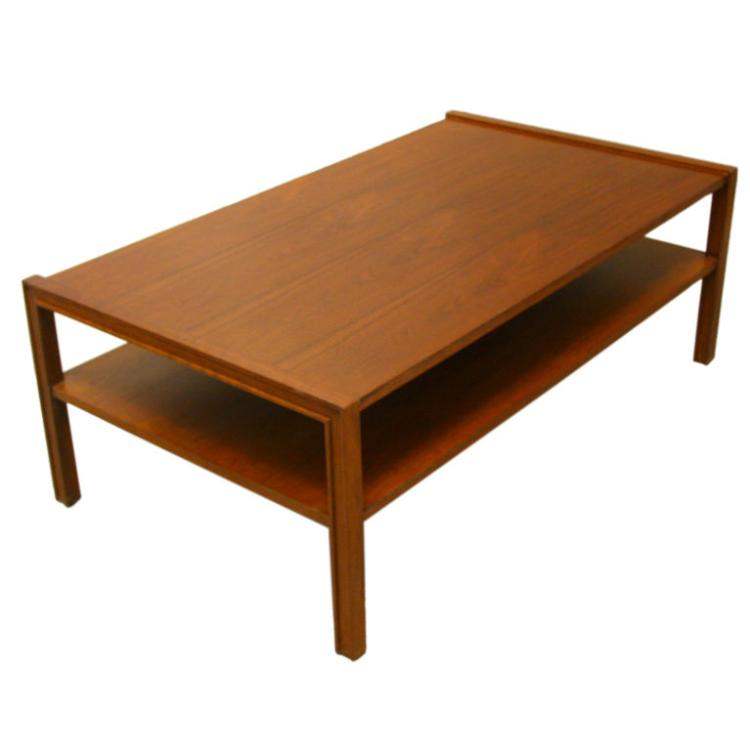 Edward Wormley walnut coffee table