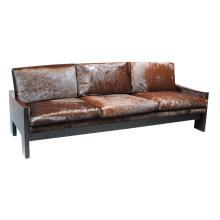Rosewood and ebonized oak sofa