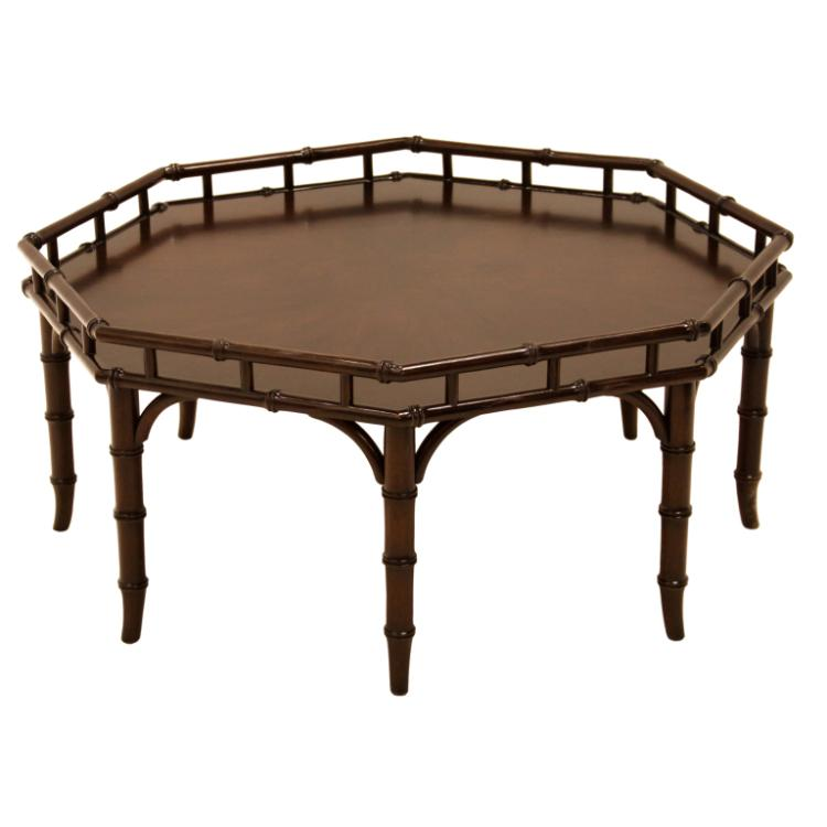 Widdicomb faux bamboo coffee table