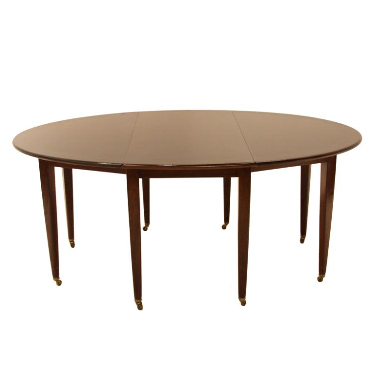 Edward Wormley oval dining table