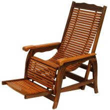 Rosewood slatted lounge chair