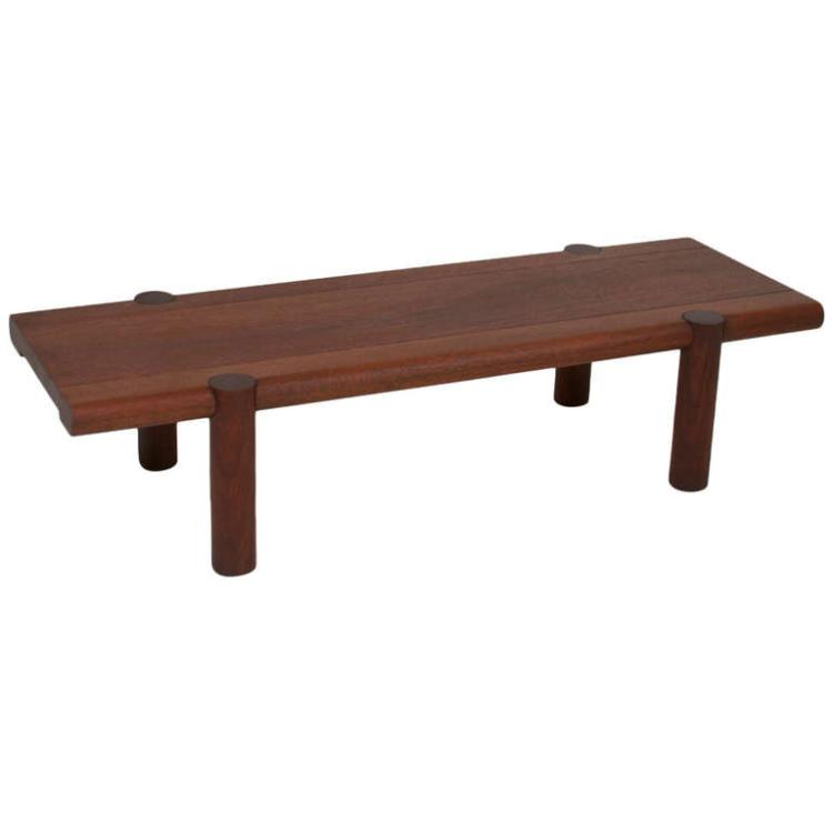 Sherrill Broudy exotic hardwood bench