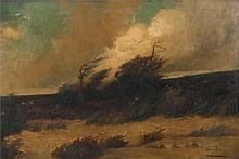 Louis Firth, Windswept scene, signed and dated lower right 1901, oil on can