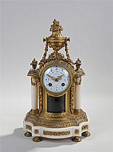 Late 19th Century French gilt bronze mantel clock, Fortaine Au Havre, the f