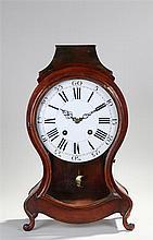 Early 19th Century fruitwood Hugh Neuchatel bracket clock, the waisted case