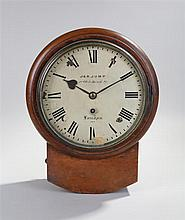 Victorian wall clock, of small proportions, by J & A Jump, 1a Old Bond Stre