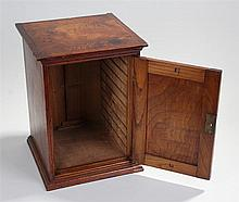 19th Century elm table top cabinet, the rectangular top with a single panel
