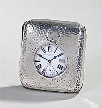 Goliath Watch and silver case, the hammered silver case with the enclosed g
