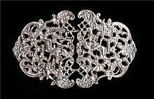 Elizabeth II silver nurse's belt buckle, London 1982, with cherubs to the f