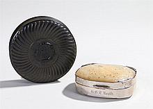 Two 19th Century snuff boxes, the first snuff box in pressed horn and torto