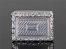 George IV silver vinaigrette, Birmingham 1824, maker T & W Simpson, the fol