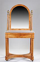 Fine early 19th Century Biedermeier stain wood and marble wash stand, the a