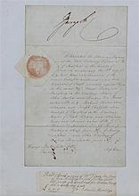 Hertford Summer assizes 1826 document concerning the sentencing of various