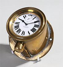 Early 20th Century Fiat car clock, the white enamel dial with the text 8 Da