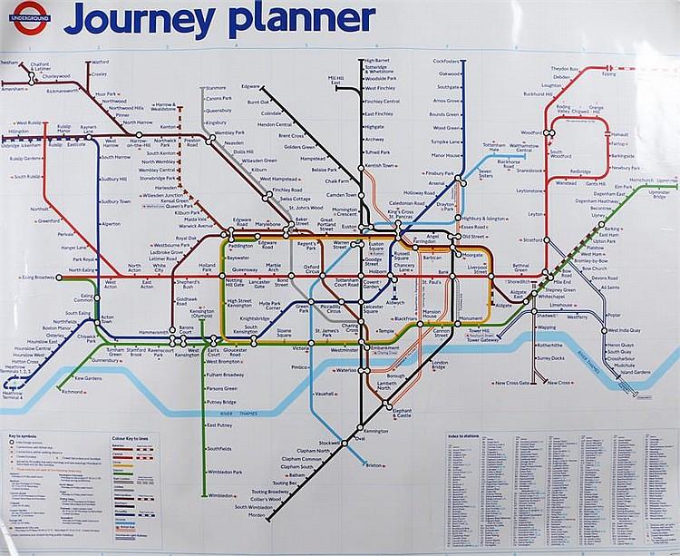London Underground journey planner/map sticker, 125cm x ... on london underground rail, london buses route planner, london underground car, london underground transport, london underground tube, london underground security, london underground maps,