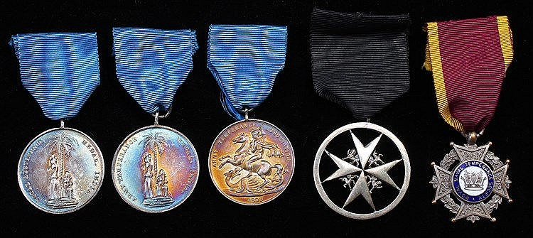 St John Medal, serving brother skeletal War issue, together with a Naval Te