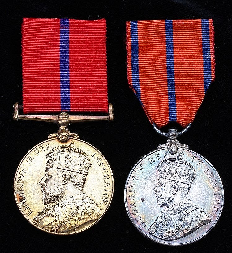 Pair of Police Constable medals, Edward VII 1902 Coronation medal (P.C. R P