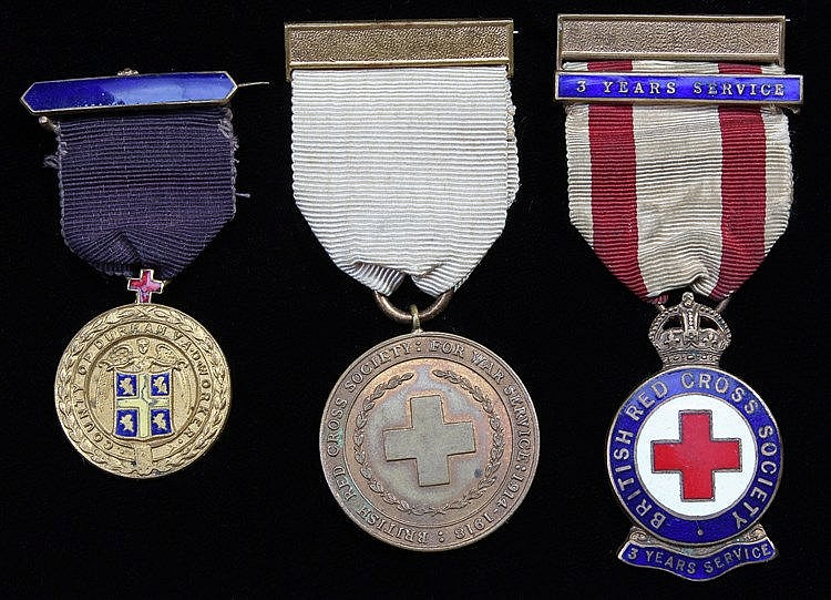 Red Cross medals, County of Durham V.A.D. Workers, named to W.G. SPEED toge