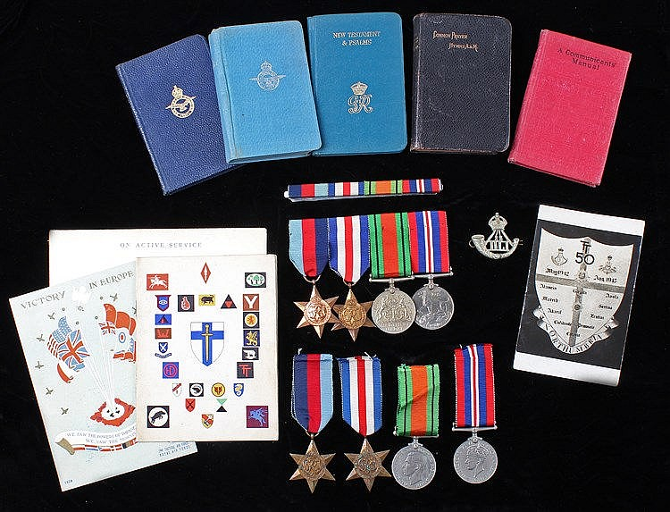 Second World War, to include medals, consisting of France and Germany Stars