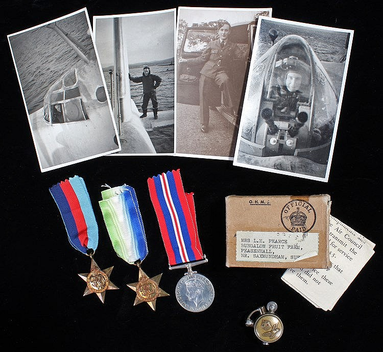 RAF Second World War casualty group, consisting of 1939-1945 War medal, Atl