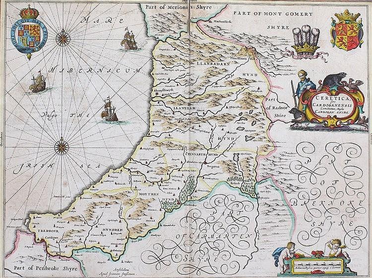 Johannes Janssonius, (1588-1664) Ceretica, sive Cardiganensis Comitatus, an