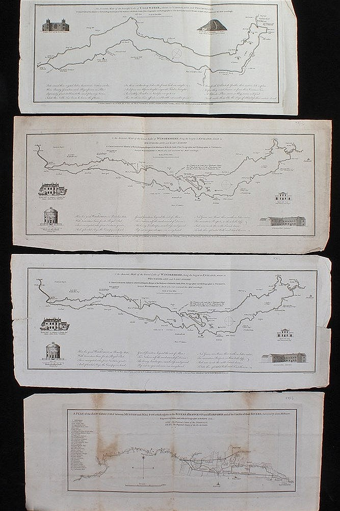 Peter Crosthwaite, 1783, two copies of An Accurate Map of the Grand Lake of