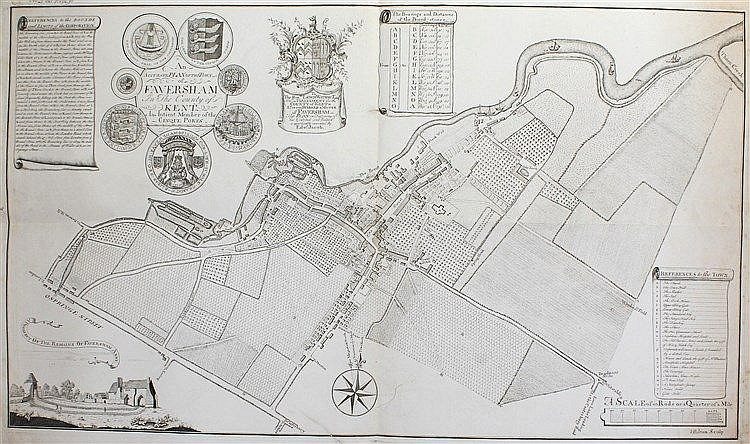 Edward Jacob, 18th Century, An Accurate Plan of the Town of Faversham In Th