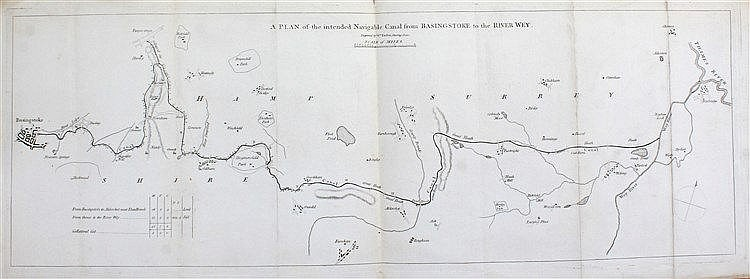 William Faden, A plan of the intended Navigable Canal from Basingstoke to t