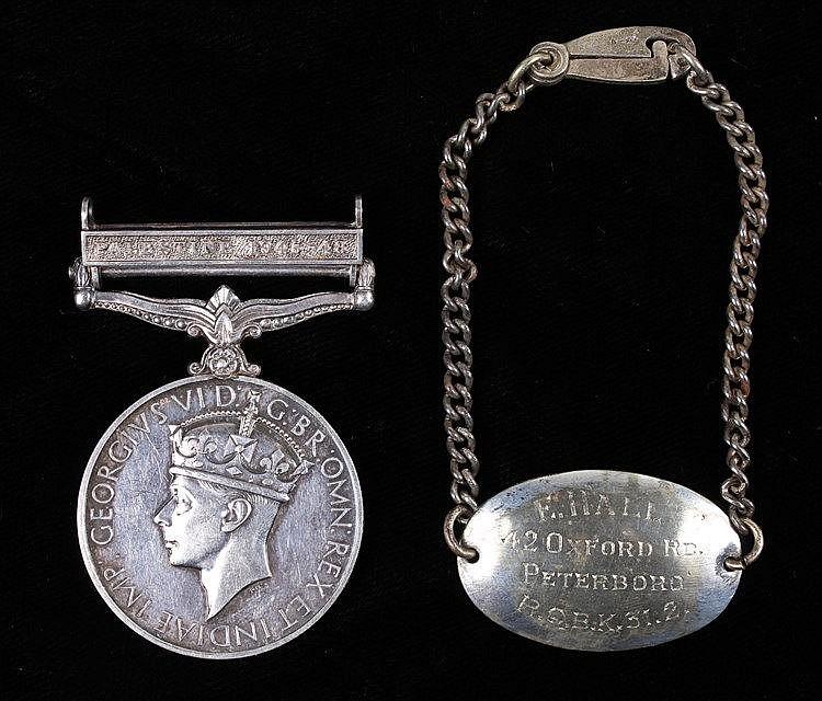 General Service medal, clasp Palestine 1945-48, (19790207 SPR. P.L. DAVISON
