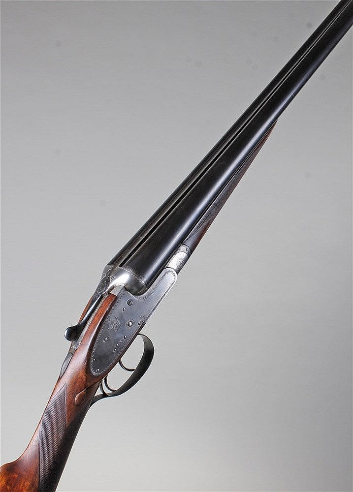 Fine quality Charles Lancaster 12 bore side by side shotgun, circa 1920, th