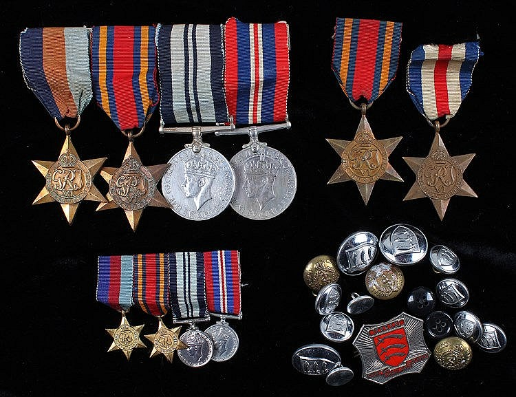 Second War Medals, to include France and Germany, Burma, 1939-1945, India G