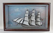 19th Century Diorama, of the ship Margaret Mitchell, the three masted ship