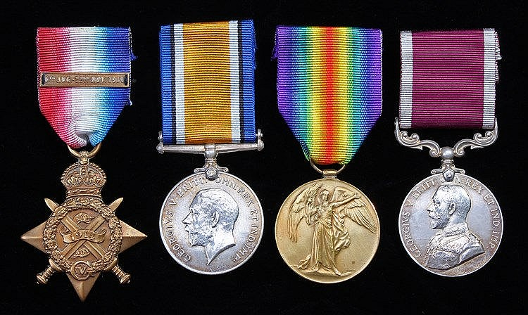 First World War Mons group of four, 1914 Mons Star with clasp, 1914 British
