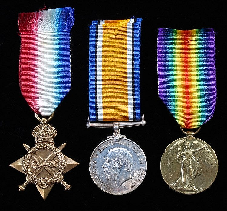 First World War Trio, 1914-15 Star, British War Medal, Victory Medal (632 P