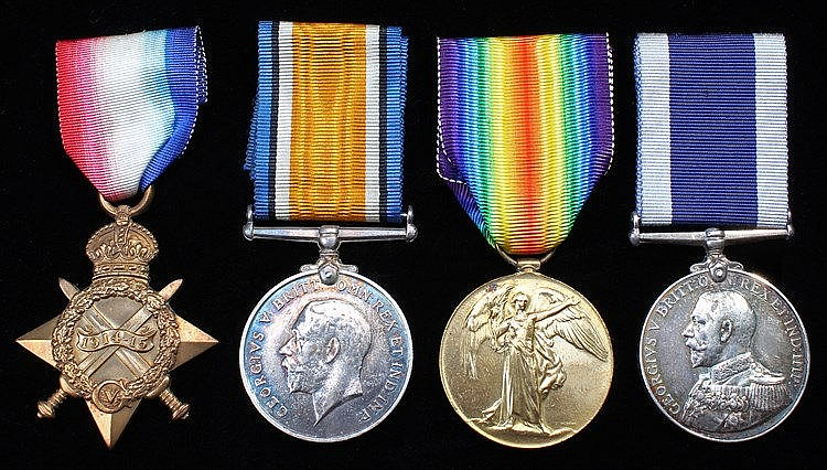 Naval First World War Trio, 1914-15 Star, British War Medal, Victory Medal