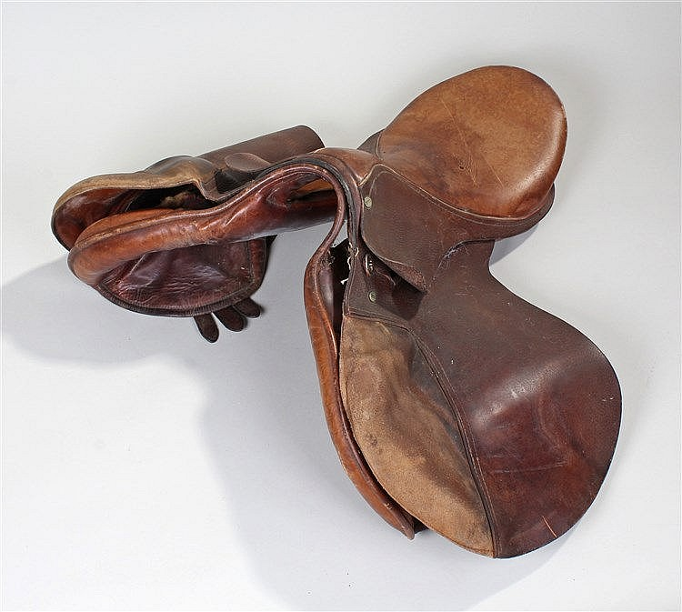 Triumph saddle, together with tack and other accessories, (qty)