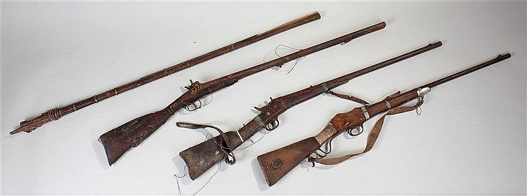 Firearms, to include a Remington with rolling block, a Martini Henry a Fren