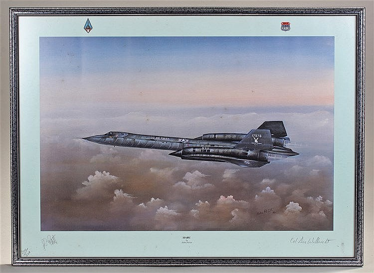John Pettitt, Habu, Limited edition print of a USAF SR-71