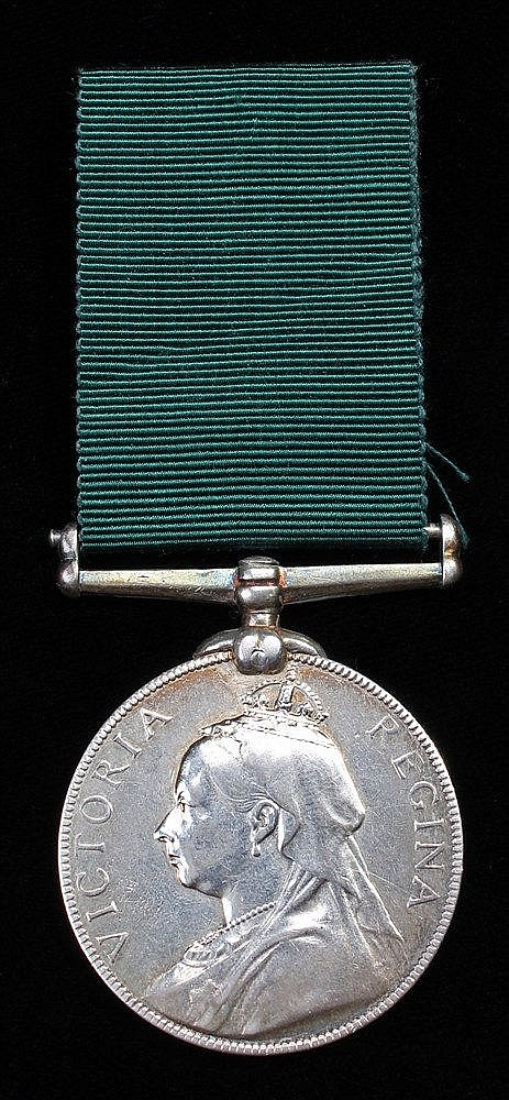 Volunteer Long Service medal, 1894, Victoria Regina (1174 Q.M. SJT: T JEPHC