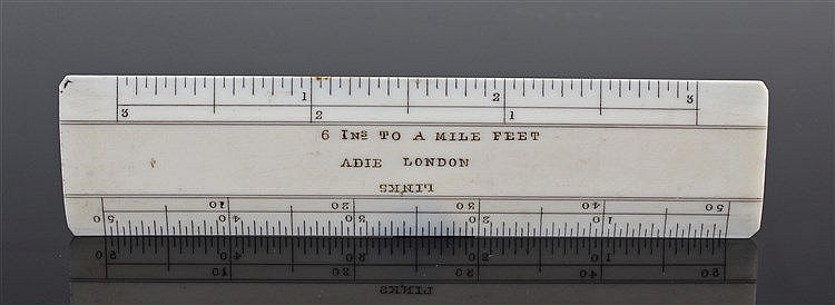 Fine Adie ivory rule, Aide London, 6