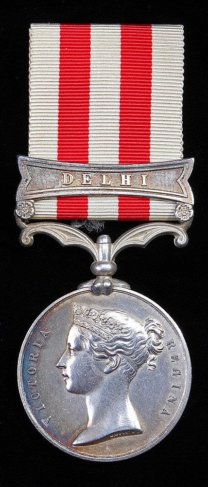 Indian Mutiny 1857-59, Delhi clasp, (Fredr Edwd Roberts, 6th Dragn Gds) No