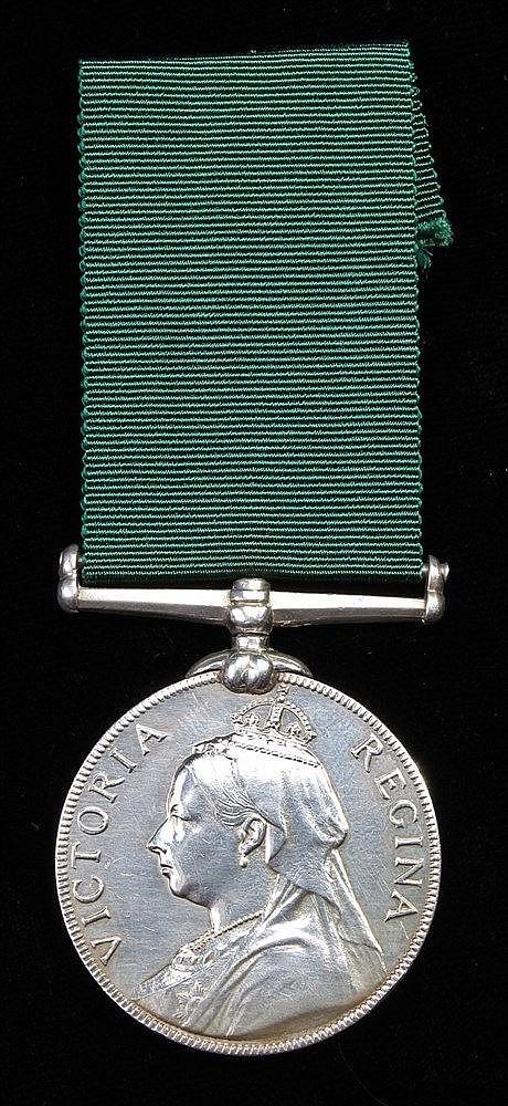 Volunteer Long Service medal, Victoria, (CORBL E.H. HANSON 2ND V.B.M.R. 186