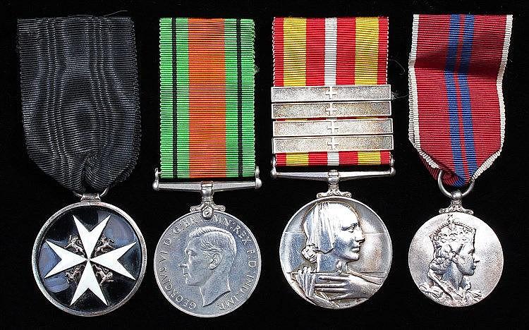 Nursing medal group, to include Defence medal, The Order of St John, Volunt