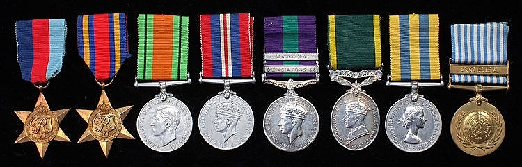 Royal Artillery and Royal Military Police group of seven,consisting of War