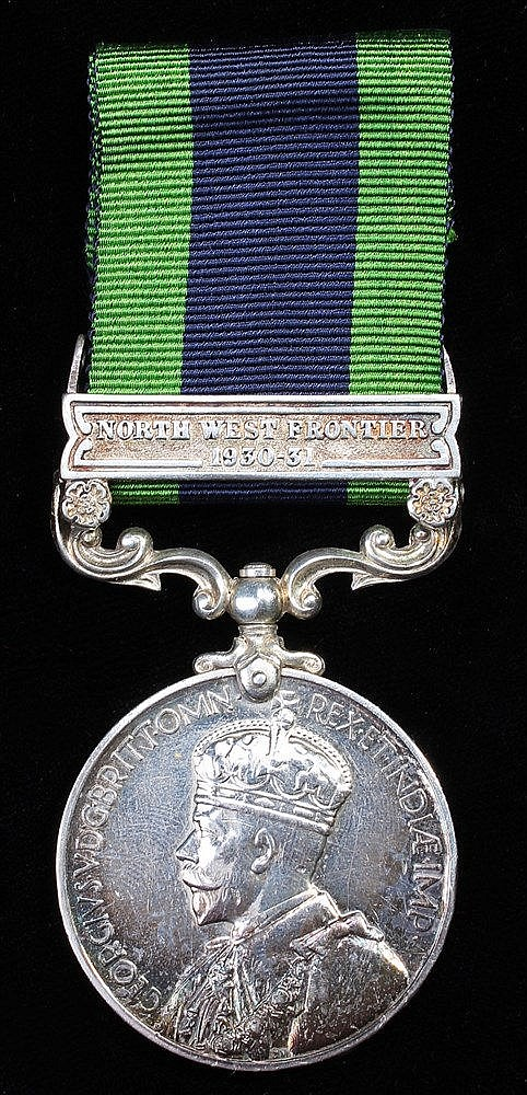 Indian General Service medal, GV, 1 clasp North West Frontier 1930-31, (593