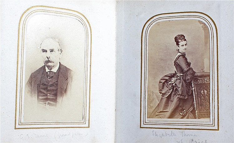 Thorne family album, photographs concerning various people related to the T
